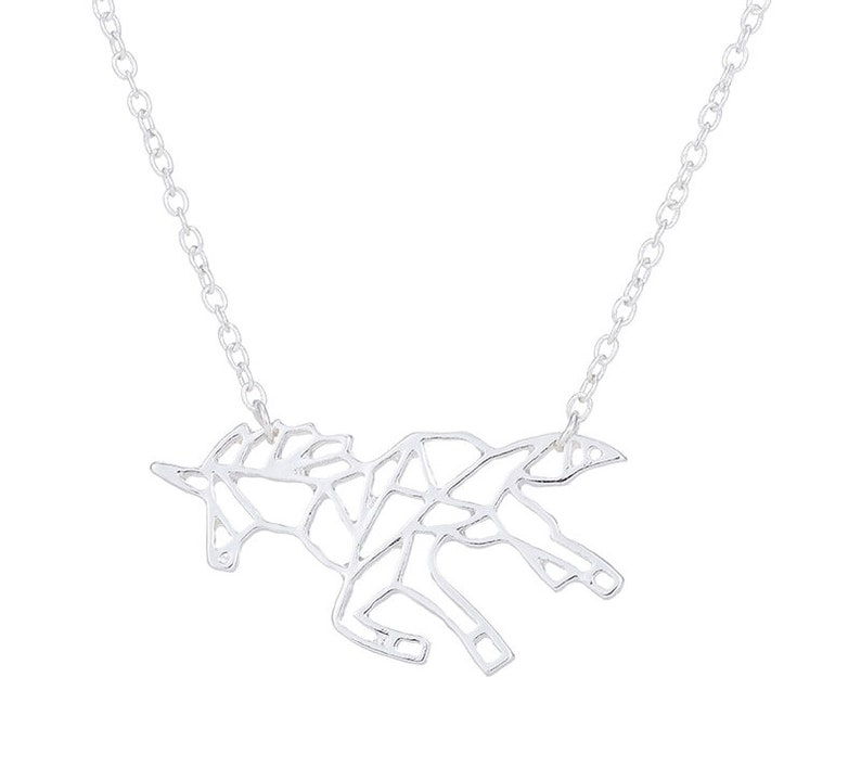 Unicorn Silver Plated Necklace Jewelry