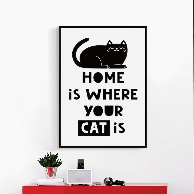 Home is where your Cat is Canvas Art Print