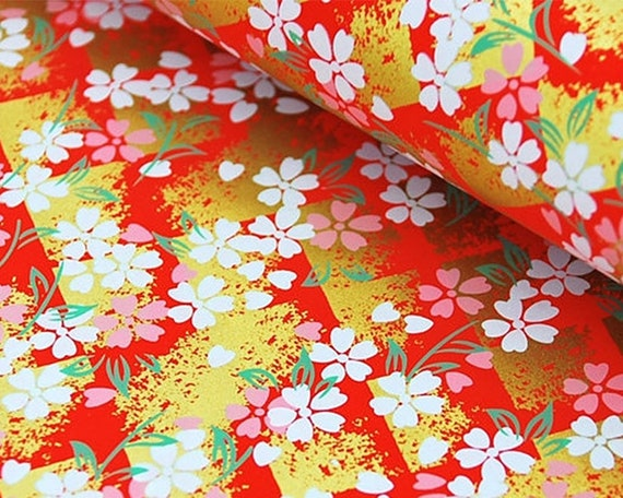 2 sheets A4 21x29.7cm Washi Rice Yuzen Chiyogami Origami Japan Papers P199