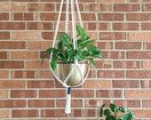 Color Wrap Minimalist Plant Hanger - Macrame Plant Hanger - Modern Plant Hanger