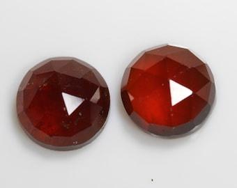 2mm To 10mm Brown Color Gemstone Natural Hessonite Round Checkerboard Gemstone