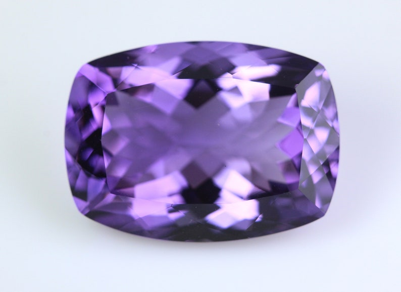 Loose Gemstone. 18.72 Carat Sparkling Stone.Price Per Piece Natural Purple Amethyst Faceted 20x15 MM Calibrated Size