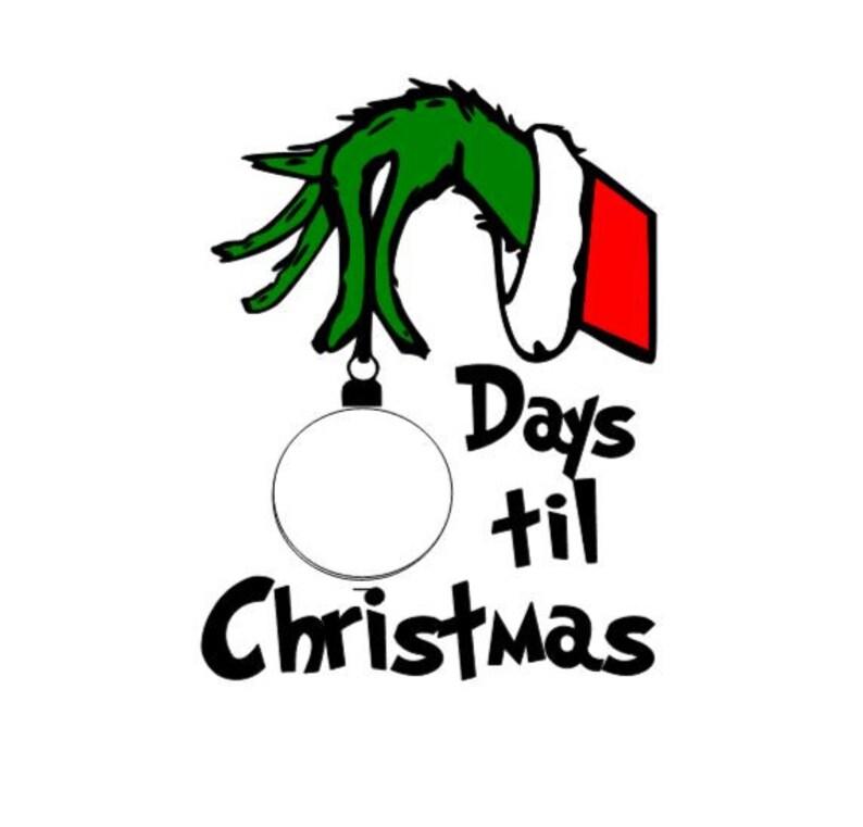 Grinch count down til Christmas svg image 0