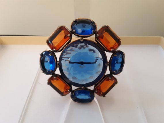 Vintage YSL Yves Saint Laurent Glass Flower Brooch - image 4