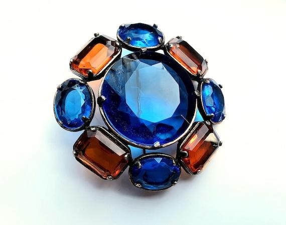 Vintage YSL Yves Saint Laurent Glass Flower Brooch - image 2