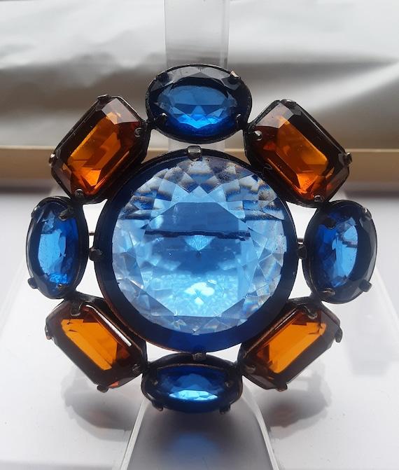 Vintage YSL Yves Saint Laurent Glass Flower Brooch - image 5