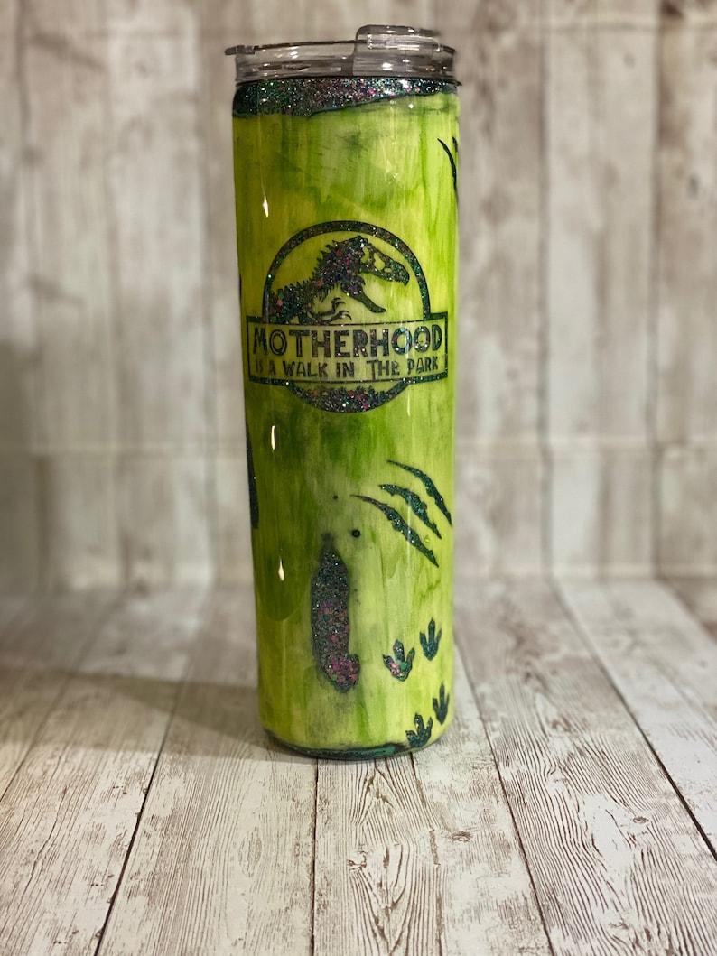 Jurassic Park Motherhood Geode Custom Tumbler