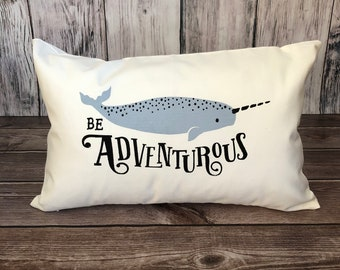 Narwhal pillow | Etsy