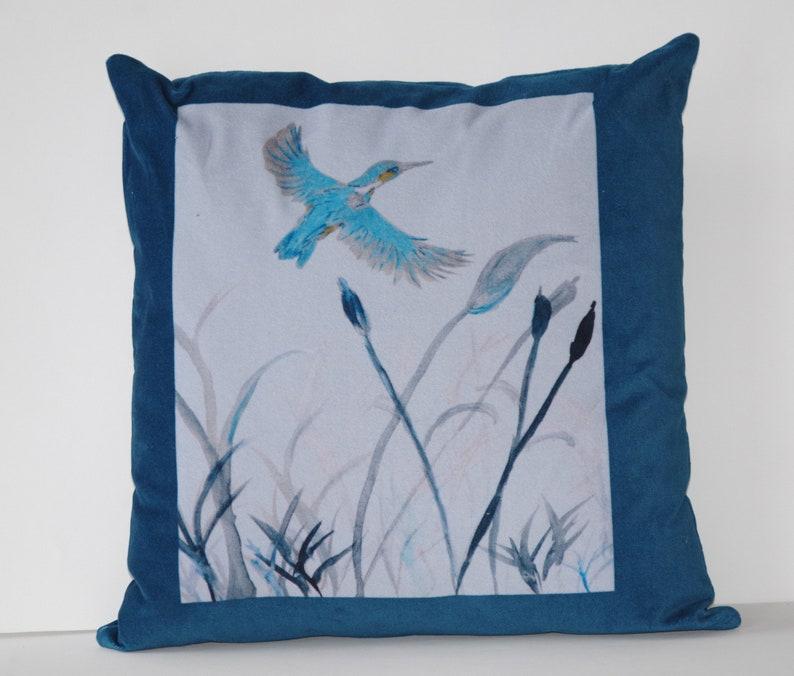 Martin-Fisher velvet cushion image 1