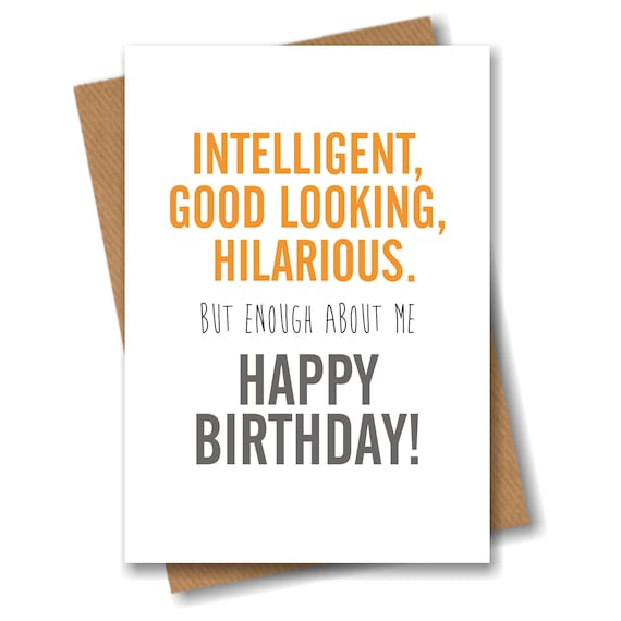 Funny Birthday Card For Him Her Best Friend Girlfriend Etsy