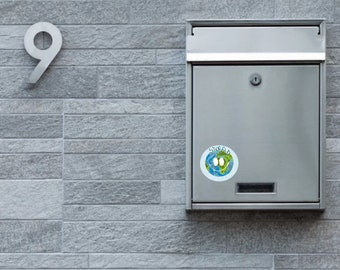 """Sticker """"Stop Pub"""" planet resistant to the outside. Mailbox sticker."""