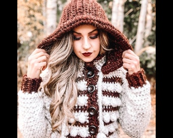 Crochet Sweater Pattern, Modern Crochet Pattern, Crochet Jacket Pattern | The Enchanted Sweater Jacket Crochet Pattern