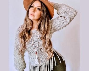 Felicity Sweater - crochet pattern only ladies pattern crochet top advanced beginner intermediate pattern plus size parttern petite pattern