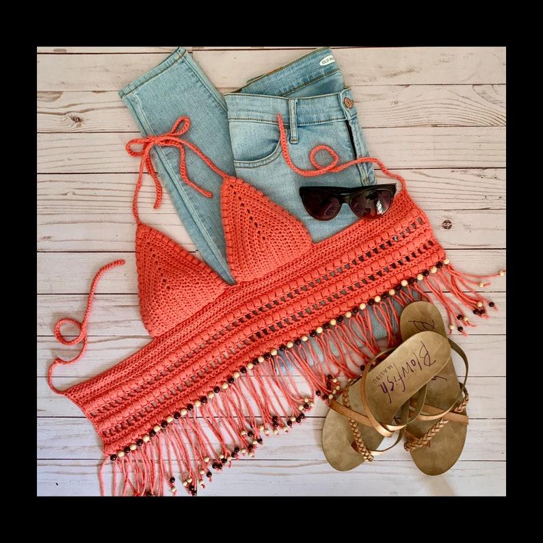crochet fashion Beach Party Bralette crochet trends Crochet Pattern women/'s crochet boho crochet summer crochet summer style