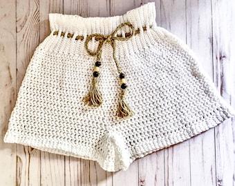 Fun in the Sun Shorts - Crochet Pattern | Summer Crochet, Size Inclusive Pattern, Crochet Shorts, Boho Crochet, Boho Pattern, Summer Pattern