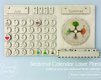 Seasonal and Liturgical Calendar Laser Plans - Instant Digital Download