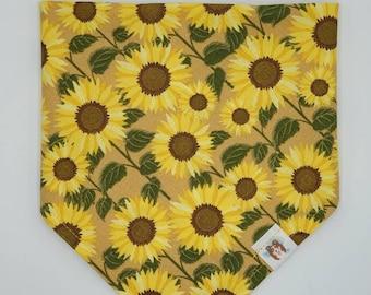Sunflowers pet bandana