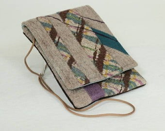 Felted sling bag with flap