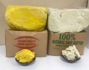 100% Raw African SHEA BUTTER Unrefined Organic Pure Premium Quality From Ghana Choose Size And Color- 2oz, 8oz, 1,2,3,5,10,20, 50 Lbs
