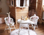 Wicker furniture for kids , rattan furniture, table and two chairs, chairs for kids