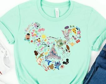 Mickey Head Shirt, Mickey Head, Disney Castle Shirt, Disney Tee, Disney Vacation Shirt, Disney Family Shirt, Disney Family Trip, Disney Trip