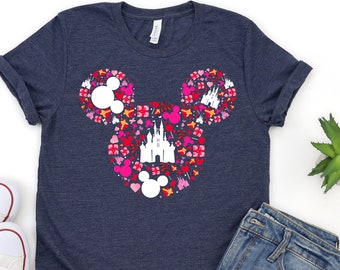 Minnie Head, Mickey Head Shirts, Disney Valentines Shirt, Disney Trip Family Matching Shirt, Disney Vacation Shirt, Family Vacation Shirt
