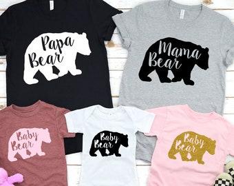 NOUVEAU 5XL Papa Maman Ours Baby Bear soeur déranger famille assorti T-shirts nouveau-né