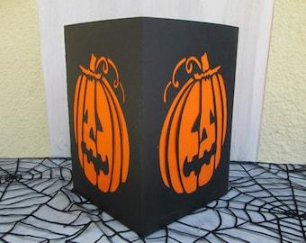 Pumpkin lantern Halloween deco paper and crepe