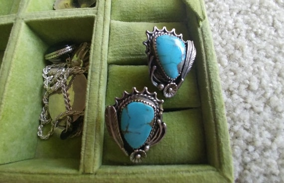 Vintage Turquoise clip earrings