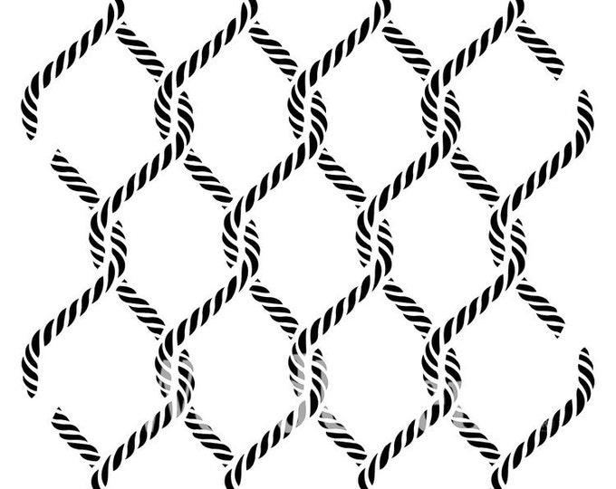 """Posh Chalk Stencil PCS025 Posh Knots 23.62 x 23.62"""" - ADVANCED SALE, Due in Stock Oct 31st"""