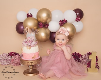 Dusty rose dress,dusty rose sitter outfit,boho cake smash outfit,1st birthday outfit,baby girl outfit,half birthday outfit,sitter romper