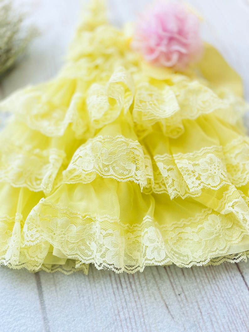 Yellow lace dress,you are my sunshine outfit,lemonade cake smash,pink lemonade dress,sitter romper,baby beach dress,yellow flower girl dress