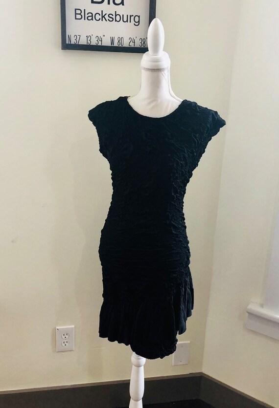 Vintage 1970s1980s Black Backless Dress  Vintage Disco Dress