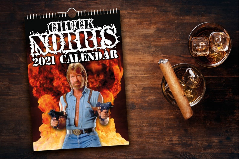 Chuck Norris 2021 Wall Calendar // Funny / Quirky / | Etsy