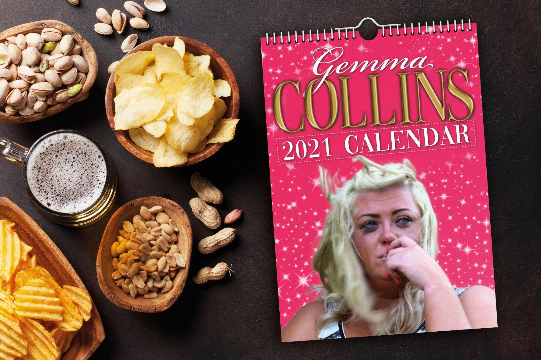 gemma collins 2021 wall calendar  funny  quirky   etsy