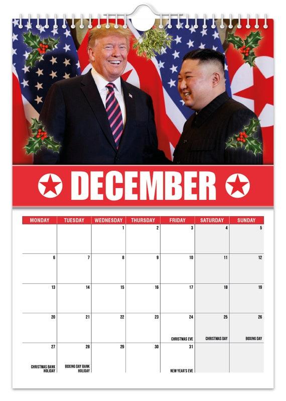 Kim Jong un 2021 Wall Calendar // Funny / Quirky / Christmas   Etsy