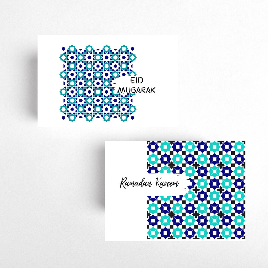 bundle of 4 ramadan and eid mubarak printable card eid  etsy