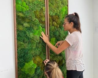 Moss Wall Art. Moss Art. Preserved Moss. Living wall.  Plant wall decor