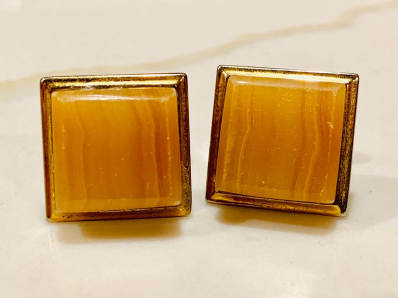 3 Pairs of Vintage Gold and Silver Tone Cufflinks Cuff Links 1950/'s - 1960\u2019s