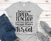 Teacher Shirt - Technology Teacher T-Shirt - There's No Tired Like Teacher Escape Room Tired - Graphic Tee