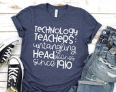 Teacher Shirt - Technology Teacher T-Shirt - Technology Teachers: Untangling Headphones Since 1910 - Graphic Tee