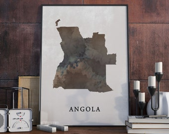 8418.Decoration Poster.Home Room wall art design.Angola Africa tribal.Political