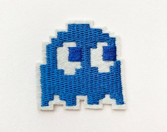 Pac-man Ghost Embroidered Iron-on//sew-on Patch Game Gift