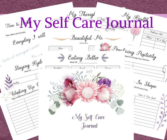 My Self Care Journal  Women  Self Care Journaling