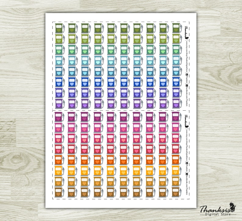 Cut Files 70/% OFF Sale Fuel Printable Planner Stickers Fuel Printable Stickers Erin Condren Planner Stickers