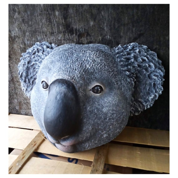 Paper mache koala head Benjamin. Sweet wall decor for a | Etsy | 570x570