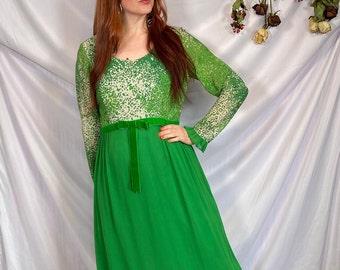 70s vintage dress 70s animal print dress 70s leopard print dress 70s shimmer dress 70s maxi dress green 70s dress spring green maxi dress