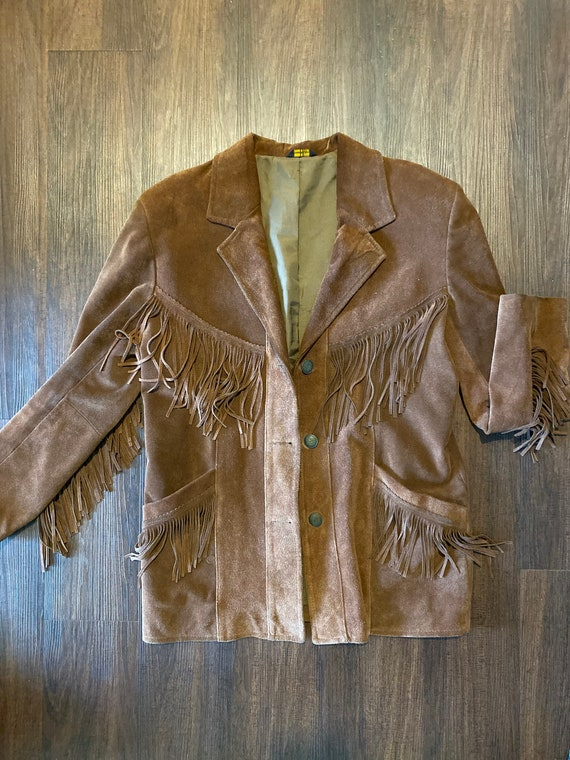 Suede Leather Jacket with fringe