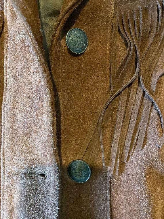 Suede Leather Jacket with fringe - image 3