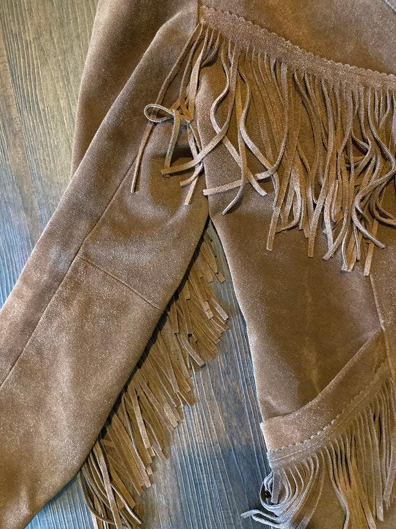 Suede Leather Jacket with fringe - image 2